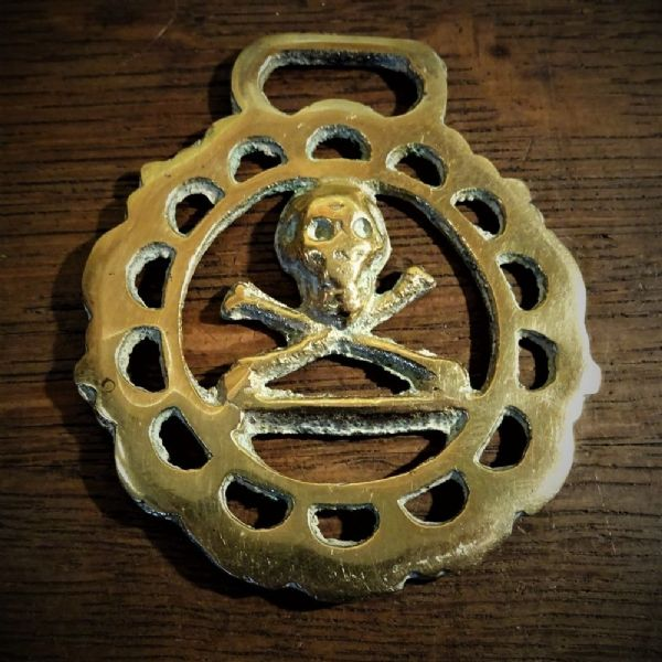 Masonic Skull and Crossbones Horse Brass